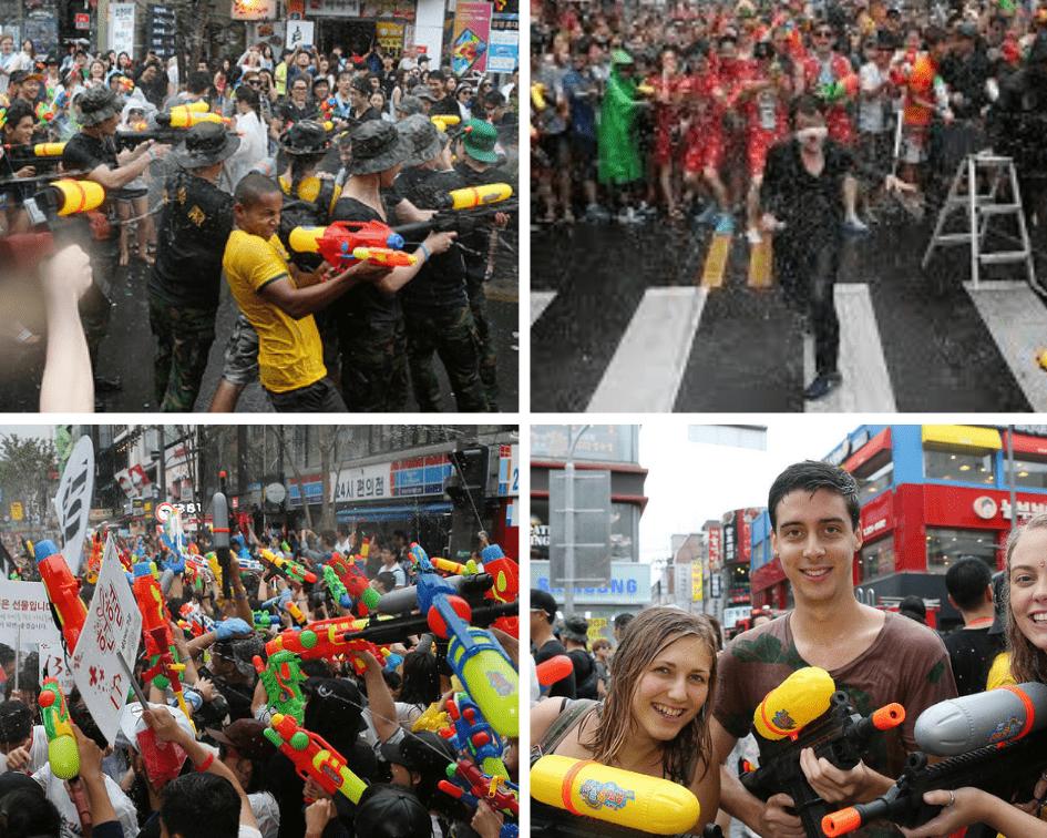 Sinchon Water Gun Festival, South Korea