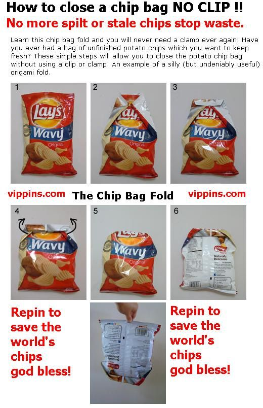 how to close a chips bag