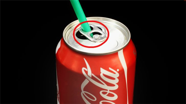 Use a straw to drink a coke