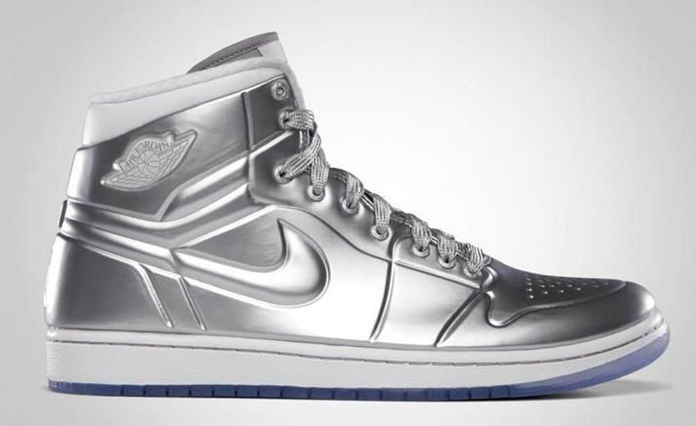 Air Jordan Silver Shoes- $60,000