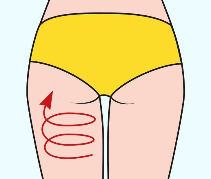 Toning the glute muscles